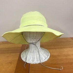 Pistil yellow wide brim shapable hat
